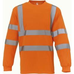 textil Camisetas manga larga Yoko T-Shirt manches longues  Haute Visibilité orange