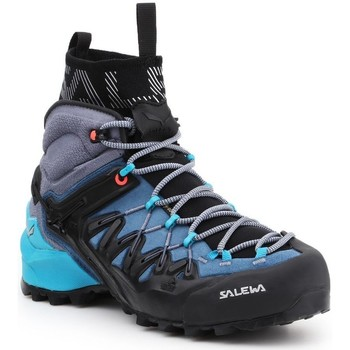 Zapatos Mujer Senderismo Salewa WS Wildfire Edge MID GTX 61351-8975 azul marino, gris, negro