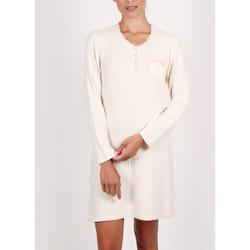 textil Mujer Pijama Admas Camisón de manga larga Soft Forest marfil Amarillo
