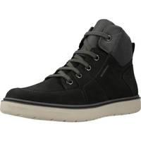 Zapatos Niño Botas de caña baja Geox J RIDDOCK BOY WPF Negro