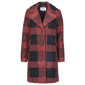 textil Mujer Abrigos Only ONLVICKI Rojo / Negro