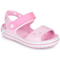 Zapatos Niña Sandalias Crocs CROCBAND SANDAL KIDS Rosa