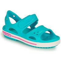 Zapatos Niña Sandalias Crocs CROCBAND II SANDAL PS Azul / Rosa