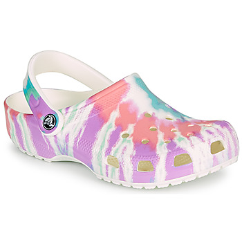 Zapatos Mujer Zuecos (Clogs) Crocs CLASSIC TIE DYE GRAPHIC CLOG Multicolor