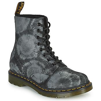 Zapatos Mujer Botas de caña baja Dr Martens 1460 PASCAL Negro / Gris