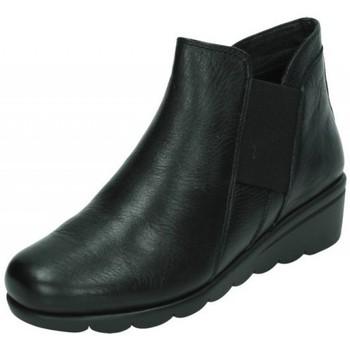 Zapatos Mujer Botas de caña baja Doctor Cutillas Botines de piel NEGRO