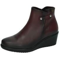 Zapatos Mujer Botas de caña baja 48 Horas Botines de piel BURDEOS