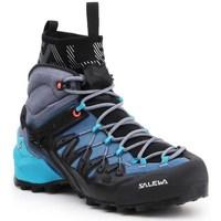 Zapatos Mujer Senderismo Salewa WS Wildfire Edge Mid Gtx Negros, Azul