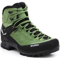 Zapatos Hombre Senderismo Salewa MS Mtn Trainer Mid Gtx Negros, Verdes