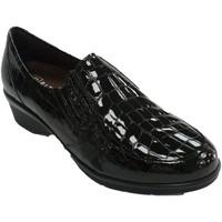 Zapatos Mujer Mocasín Pitillosms Zapato mujer con elásticos simulando pie negro