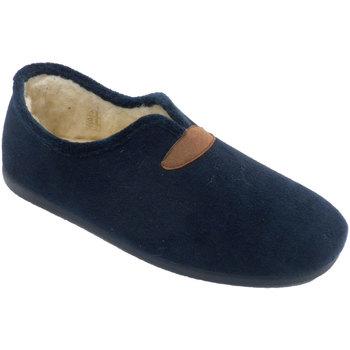 Zapatos Hombre Pantuflas Calzamur Zapatillas cerradas hombre con forro de azul