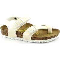 Zapatos Niños Sandalias Birkenstock BIR-RRR-371593-WH Bianco