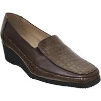 Zapatos Mujer Mocasín Marco Sophora Cuero marrón claro