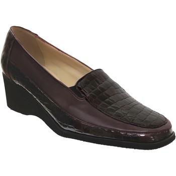Zapatos Mujer Mocasín Marco Sophora Cuero burdeos