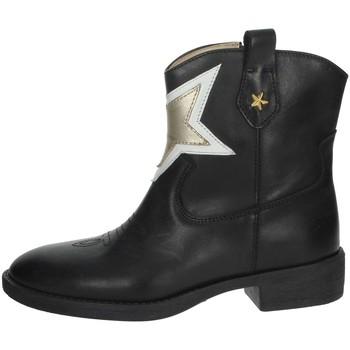 Zapatos Niña Botas de caña baja Florens F8503 Negro/Oro