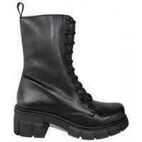 Zapatos Mujer Botas de caña baja True Heart BOTA 9 OJETES CON PISO TRACK DE TRUE HEARTH Negro