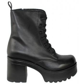 Zapatos Mujer Botas de caña baja True Heart BOTIN CORDON PISO COMBAT DE TRUE HEARTH Negro
