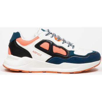 Zapatos Mujer Zapatillas bajas Asfvlt Baskets Femme  Concrete blanc/bleu/corail