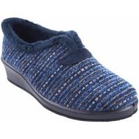 Zapatos Mujer Pantuflas Garzon Ir por casa señora  1325.525 azul Azul