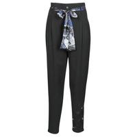 textil Mujer Pantalones fluidos Desigual CHARLOTTE Negro