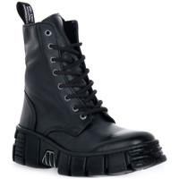 Zapatos Botas de caña baja New Rock WALL ASA LUXOR NEGRO Nero