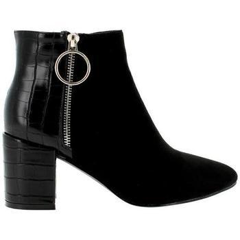 Zapatos Mujer Botines Blogger BO-14248 Negro