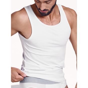 textil Hombre Camisetas sin mangas Lisca Hércules  Men Tank Top Blanco