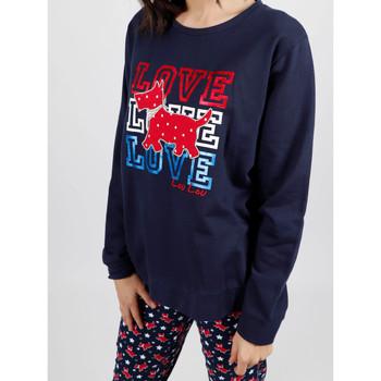 textil Mujer Pijama Admas Homewear pijamas y pantalones de felpa LouLou Stars navy Azul Marine