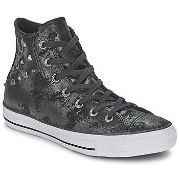 Zapatos Mujer Zapatillas altas Converse CHUCK TAYLOR ALL STAR HARDWARE Negro / Plateado