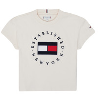 textil Niña Camisetas manga corta Tommy Hilfiger KG0KG05503-Z00-J Beige