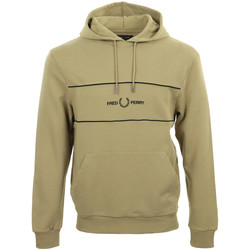textil Hombre Sudaderas Fred Perry Embroidered Panel Hooded Sweatshirt Marrón