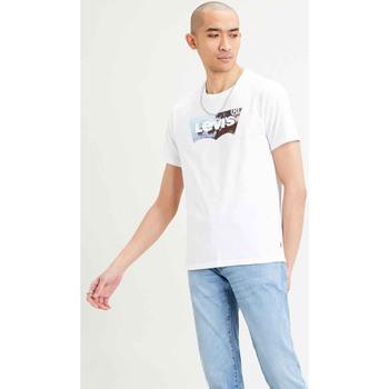 textil Hombre Camisetas manga corta Levi's CAMISETA LEVIS HOUSEMARK GRAPHIC Blanco