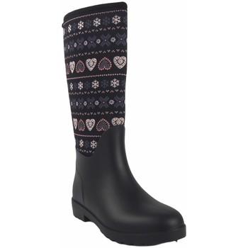 Zapatos Mujer Botas de agua Kelara Bota de agua señora  k01108 negro Multicolor