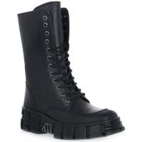 Zapatos Mujer Botines New Rock WALL ITALI NERO TOWER Nero