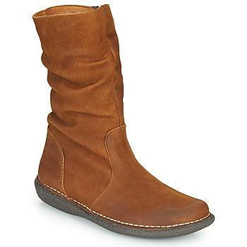 Zapatos Mujer Botas de caña baja Casual Attitude NIELOO Camel