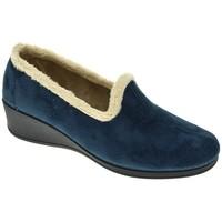 Zapatos Mujer Pantuflas Pinturines ZAPATILLAS SEÑORA  MARINO Azul