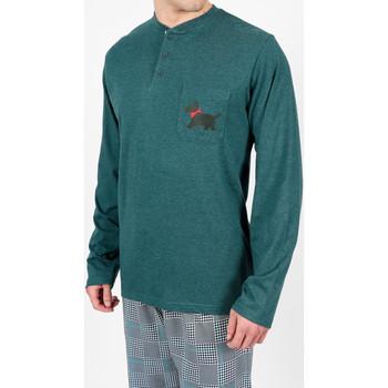 textil Hombre Pijama Admas For Men Pantalones de pijama LouLou Admas verde británico Verde Oscuro