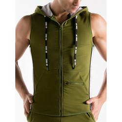 textil Hombre Chaquetas de deporte Code 22 Chaqueta con capucha sin mangas Código de empuje 22 Lavanda