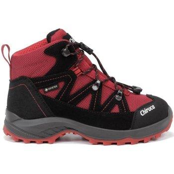 Zapatos Niños Senderismo Chiruca Botas  Troll 09 Gore-Tex Rojo