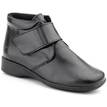 Zapatos Mujer Botas de caña baja Morxiva Shoes Botines confort de piel by Morxiva Noir