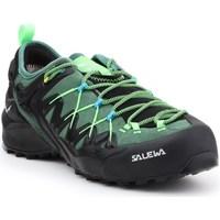 Zapatos Hombre Senderismo Salewa MS Wildfire Edge Gtx Negros, Verdes