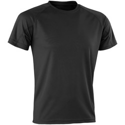 textil Hombre Camisetas manga corta Spiro SR287 Negro