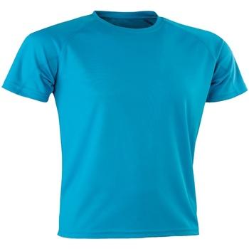 textil Hombre Camisetas manga corta Spiro SR287 Azul Océano