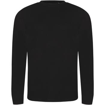 textil Hombre Camisetas manga larga Awdis JT002 Negro Sólido
