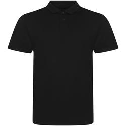 textil Hombre Polos manga corta Awdis JP001 Negro Sólido