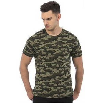 textil Hombre Camisetas manga corta Awdis JT034 Camuflaje Verde