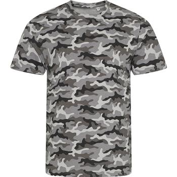 textil Hombre Camisetas manga corta Awdis JT034 Camuflaje Gris