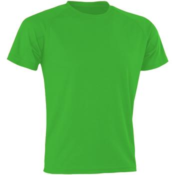 textil Hombre Camisetas manga corta Spiro SR287 Verde Flo