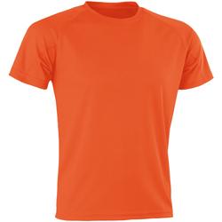 textil Hombre Camisetas manga corta Spiro SR287 Naranja