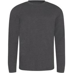 textil Hombre Camisetas manga larga Awdis JT002 Carbón Jaspeado
